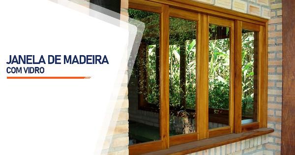 Janela De Madeira Com Vidro Contagem