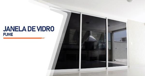 Janela De Vidro Temperado Fume Belo Horizonte