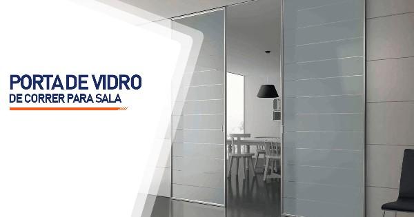 Porta De Vidro De Correr Para Sala Contagem