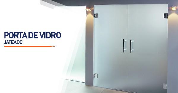 Porta De Vidro Jateado Contagem