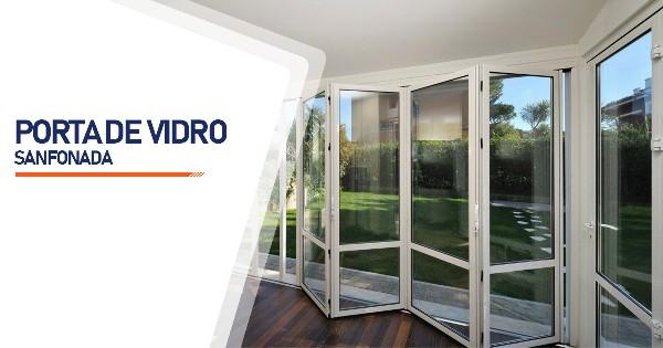 Porta Sanfonada De Vidro Contagem