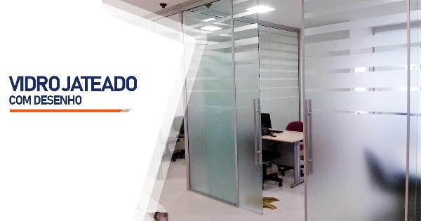 Vidro Jateado Com Desenho Belo Horizonte